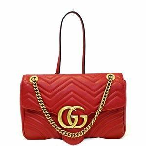 12f5a6c6e14 Gucci. GUCCI GG Marmont Matelasse RedLeather Shoulder Bag